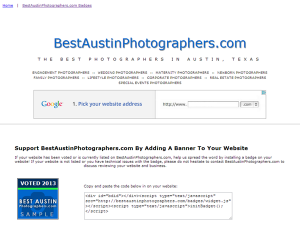 Best Austin Photographers Badges