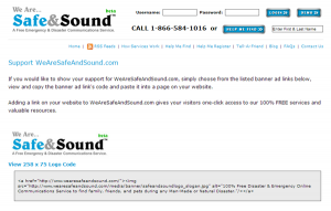 WeAreSafeAndSound.com Badges & Banners