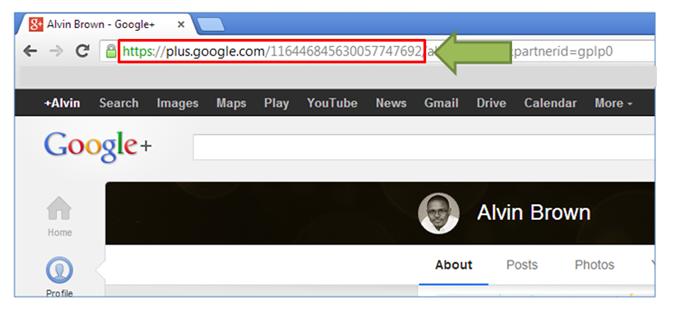 google profile id link