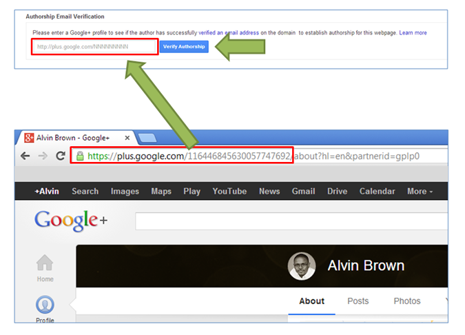 google profile id verify