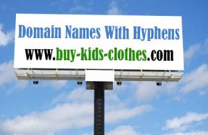 Domain names with hyphens or dashes