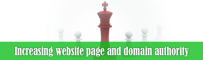 How to increase website page and domain authority