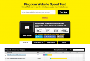 Pingdom your website's speed