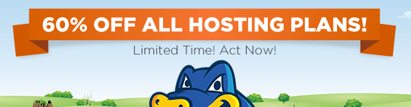 Save 60% on all New Hosting Packages on Hostgator.com - 8/10 from 11am - 2pm CST!