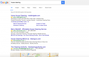 Google Search Results Without Paid Ads