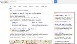 Google Search Results With Paid Ads
