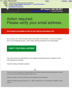 Stolen GoDaddy Account and Domain Names