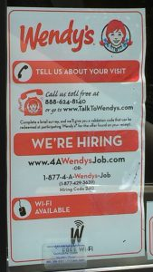 For a Wendy's Job