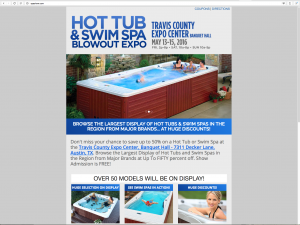 Hot Tub & Swim Spa Blowout Expo at the Travis County Expo Center's Banquet Hall in Austin