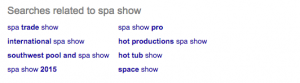 Related Spa Show Search Keywords