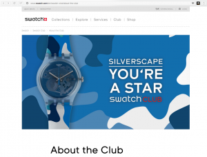 swatch.club directs to the owners club of swatch watches.