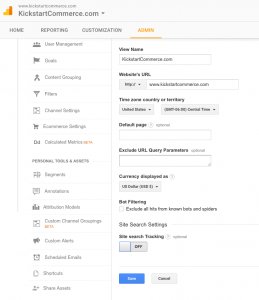 Google Analytic's built-in Site Search Setting