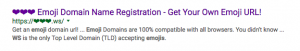 GoDaddy Emoji Domain Search