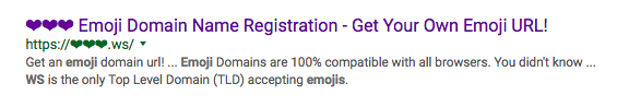 Emoji domain names are taking over the web