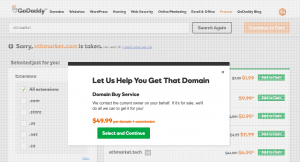 GoDaddy Domain Buying Service