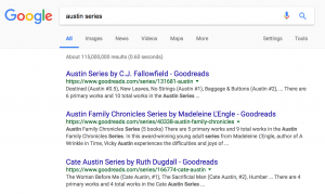 Austin Series with No Google Ads Showing