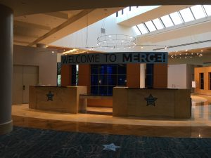 Merge! Conference Registration Booth Marriott Orlando World Center