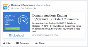 facebook feed auction listing