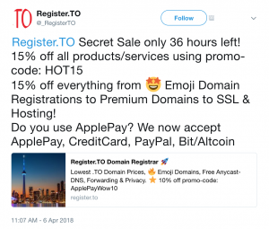 Register.TO 36-Hour Secret Sale