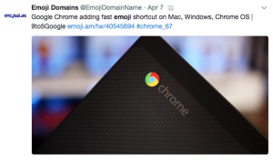 Google Chrome Adding Fast Emoji Shortcut on Mac, Windows, Chrome OS