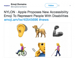 Apple Proposes New Accessibility Emoji to Represent People with Disabilities