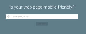 Is your website or web page mobile friendly?