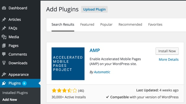 Install and Configure AMP for WordPress Plugin