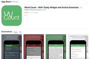 Apple Store - Word Count App