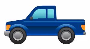 Ford Motor Company brands emoji pickup truck