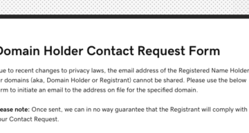 Where is GoDaddy's Contact Domain Holder Link?