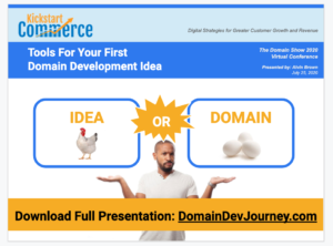 Tools for Your First Domain Development at The Domain Show 2020