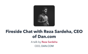 Fireside Chat with Reza Sardeha of Dan.com | The Domain Show 2020