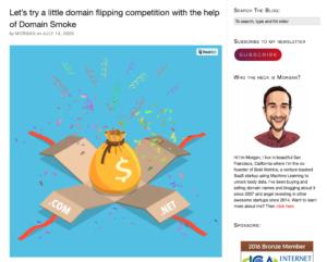 Domain Flipping Contest | MorganLinton.com and DomainSmoke.com