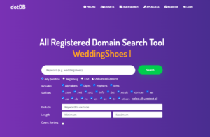 dotDB.com Advanced Features - Domain Search Tool