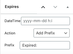 Simple Interface - Post and Page Expiration using WP Post Expires
