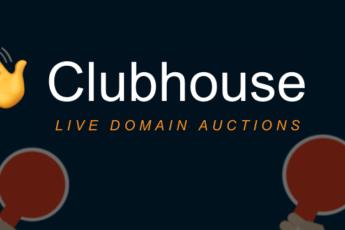Clubhouse - LIVE domain auction disruption.