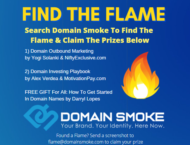 DomainSmoke.com - Find The Flame Domain Game!